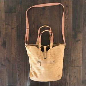 American Eagle faux leather messenger